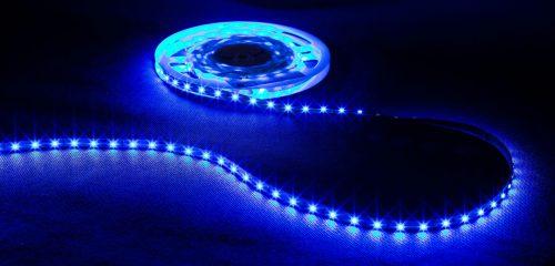 Profesjonalna taśma LED, 60diod 3528/metr, 4.8W/m, barwa niebieska, zasilanie 12Vdc