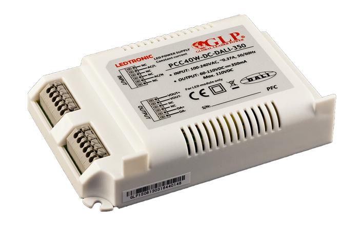 Zasilacz prądowy 40 W DC-DALI IP67 serii LEDTRONIC