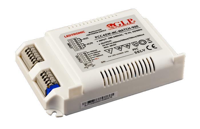 Zasilacz prądowy 22-45 VDC / 40 W IP67 serii LEDTRONIC
