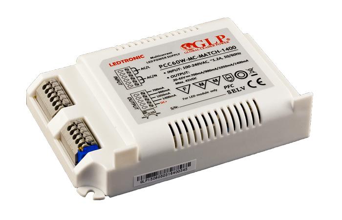 Zasilacz prądowy 20-42 VDC/ 60 W IP67 serii LEDTRONIC